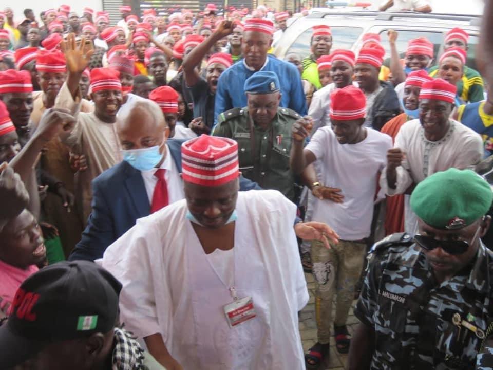 Ondo 2020: Photo news: Former Governor Rabiu Musa Kwankwaso in Ondo to Campaign for PDP's Eyitayo Jegede