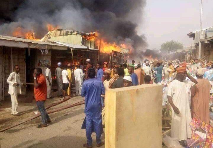 JUST IN: Properties worth billions of naira razed as fire guts Ochanja Market in Onitsha