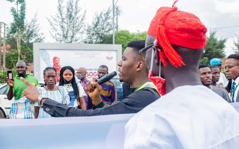 Youths Protest Against Dangote Cement, Gives 48 Hours Ultimatum For Price Reduction