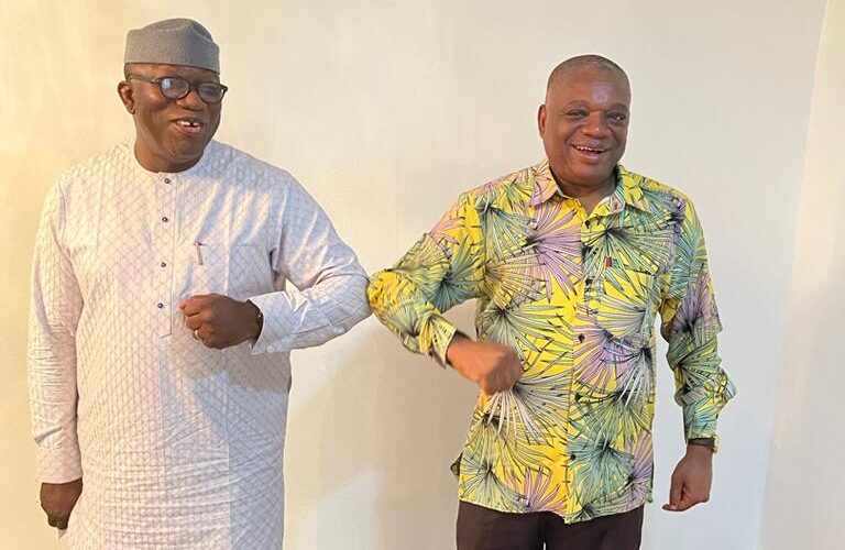 NGF Chairman, Gov Fayemi Visits Senate Chief Whip, Orji Kalu (PHOTOS)