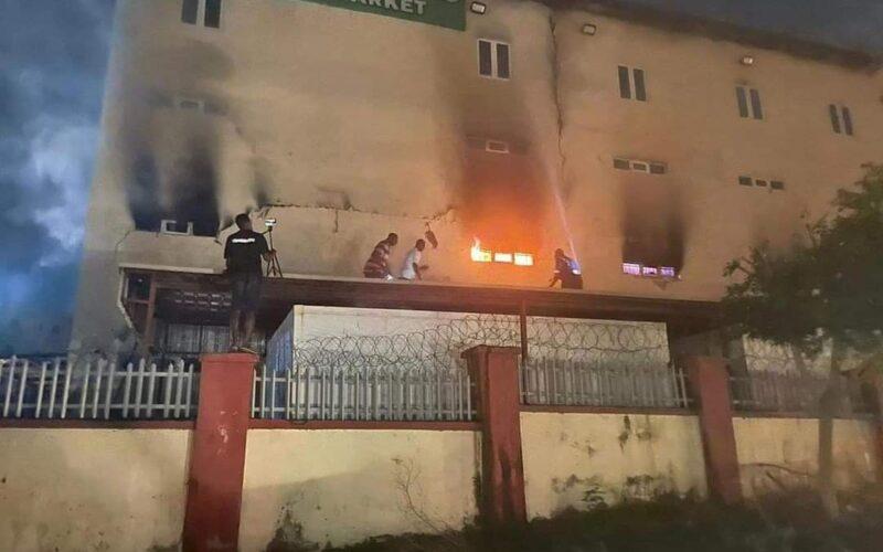 BREAKING: Fire guts popular Abuja supermarket
