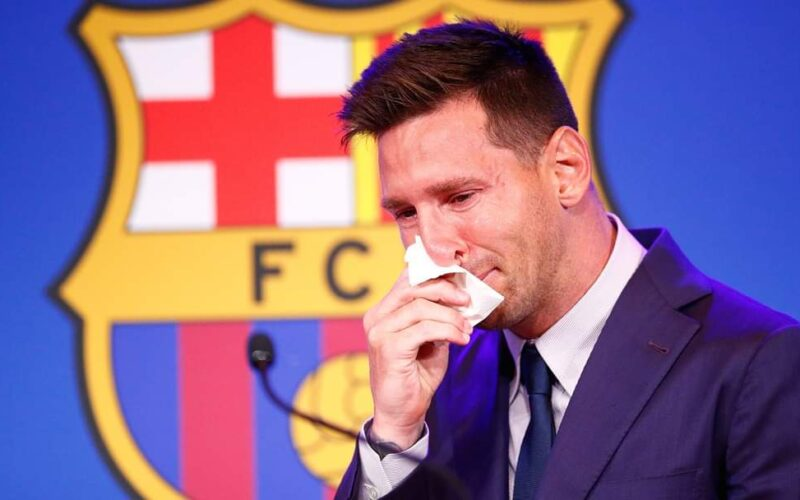 Tearful Messi Confirms Barcelona Exit
